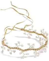 Nestina Accessories - Beaded Vine Bridal Head Piece - Metallic - Lyst