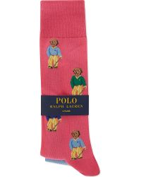 Pink Pony - Golfer Bear Cotton Socks Pack Of Two - Lyst