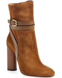 Gucci 'Abigail' Suede Boot - Lyst
