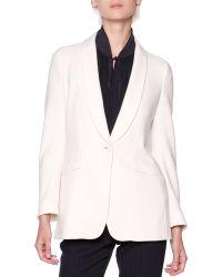 Giorgio Armani Silkcashmere Shawl-collar Jacket - Lyst