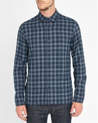 Sandro | Blue Seattle Checked Flannel Shirt | Lyst