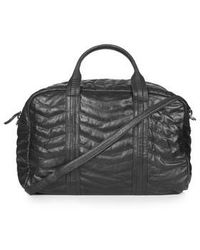 TOPSHOP - Leather Zig-Zag Quilted Luggage Bag - Lyst