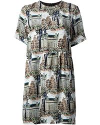 Peter Jensen Central Park Print Dress - Lyst