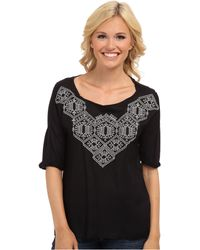 Lucky Brand Sydney Embroidered Top - Lyst