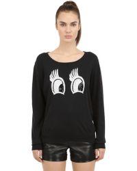 Beayukmui - Sequined Eyes On Cotton Sweater - Lyst