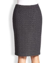 St. John Tweed Pencil Skirt - Lyst