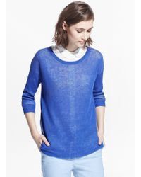 Mango Knit Linen Sweater - Lyst