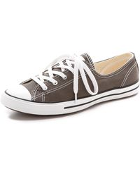 Converse Fancy Low Top Sneakers Charcoal - Lyst