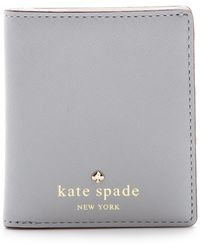 Kate Spade Cherry Lane Small Stacy Wallet Big Smoke - Lyst