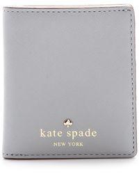 Kate Spade Cherry Lane Small Stacy Wallet Big Smoke - Lyst