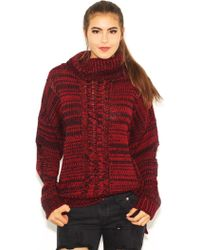 JOA Oversized Sweater In Wine Red - Lyst