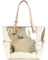 Michael Kors Michael Signature Patent East West Tote - Lyst