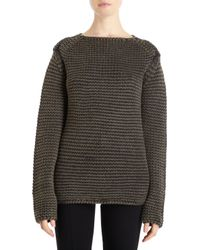 Alexander Wang Acid Wash Boatneck Sweater - Lyst