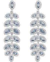 Swarovski Baron Silver Tone and Pale Blue Crystal Drop Earrings - Lyst