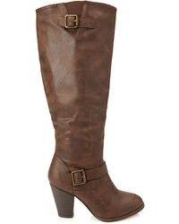 Forever 21 Faux Leather Knee-High Boots - Lyst