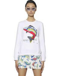 Kenzo Embroidered Big Fish Fleece Sweatshirt - Lyst