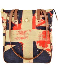 Vivienne Westwood Shopper Fantasia British Print Bag - Lyst