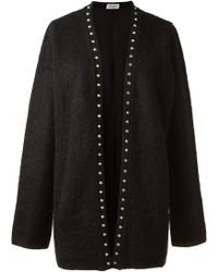 Saint Laurent Black Cardigan - Lyst