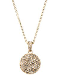 Judith Jack 14k Goldplated Marcasite Crystal Circle Pendant Necklace - Lyst