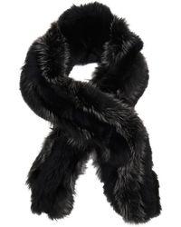 Gucci Black Foxfur Scarf - Lyst