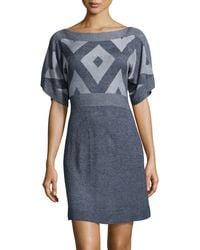 BCBGMAXAZRIA Geo Intarsia Sweaterdress - Lyst