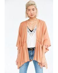 Kimchi Blue - Shirred Kimono Jacket - Lyst