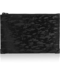 Alexander Wang Prisma Leather and Calf Hair Pouch - Lyst