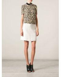 Gucci Beige Leopard Top - Lyst