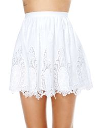 Nasty Gal Point Blank Skater Skirt - Lyst