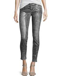 Current/Elliott Slim Snakeprint Stretch Jeans - Lyst