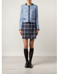 House Of Holland Plaid Tweed Coco Skirt - Lyst