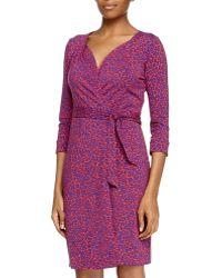 Diane von Furstenberg Leopard Camo Wrap Dress - Lyst