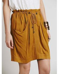 Free People Misty Mountain Mini Skirt orange - Lyst