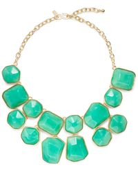 Kenneth Jay Lane Faceted Bead Bib Necklace - Lyst