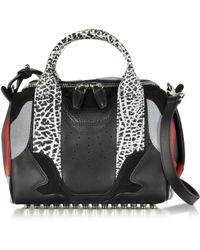 Alexander Wang Sneaker Rockie Animal Print Satchel Bag W/Studs - Lyst