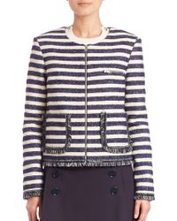 Sonia by Sonia Rykiel | Striped Tweed Jacket | Lyst