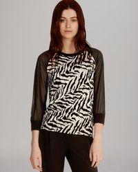 Karen Millen Top Graphic Zebra Print Knit - Lyst