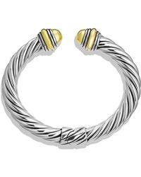 David Yurman Cable Classics Bracelet with Gold Domes - Lyst