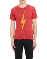 Aviator Nation Lightning Bolt-print Tee - Lyst