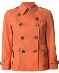 Burberry Brit Classic Short Trench Coat - Lyst