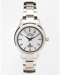 Vivienne Westwood Time Machine Silver Bracelet Watch Vv111sl - Lyst