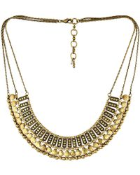 Lucky Brand Textured Metal Necklace - Lyst