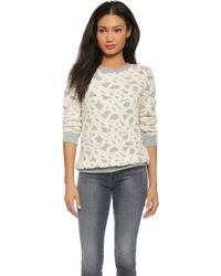 Club Monaco - Lizeth Sweatshirt - Meadow Flowers/Blanc De Blanc - Lyst