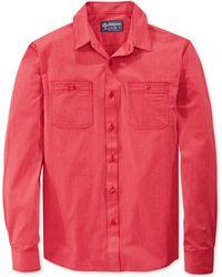 American Rag Red Railroad-striped Shirt - Lyst