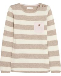 Chinti & Parker Contrast-Pocket Striped Cashmere Sweater - Lyst