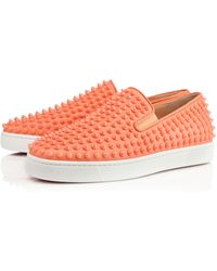 Christian Louboutin Orange Rollerboat - Lyst