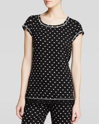 Kensie - Heart Short Sleeve Pyjama Top - Lyst