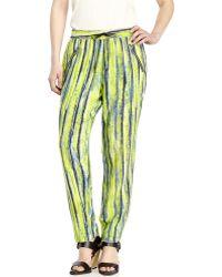 Andrew Marc Stella Stripe Silk Pants - Lyst