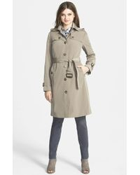 London Fog Quilted-Flap Trench Coat  - Lyst