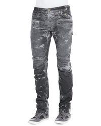 Robin's Jean Thunder Wash Moto Jeans - Lyst